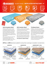 ProWarm™ Insulation Boards installation manual