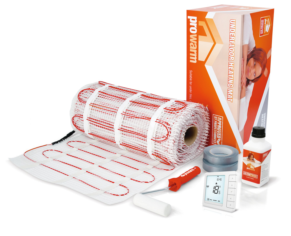 Electric underfloor heating systems prowarm prowarm underfloor heating mat system dailygadgetfo Images