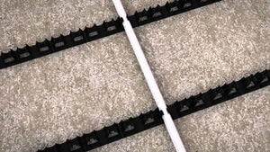 How to install Water Underfloor Heating using a pipe clip track